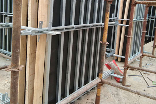 shear wall in construction site